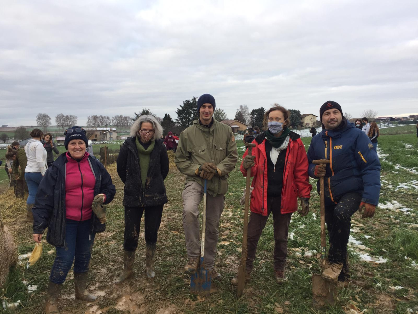Le chantier agroforesterie se poursuit !