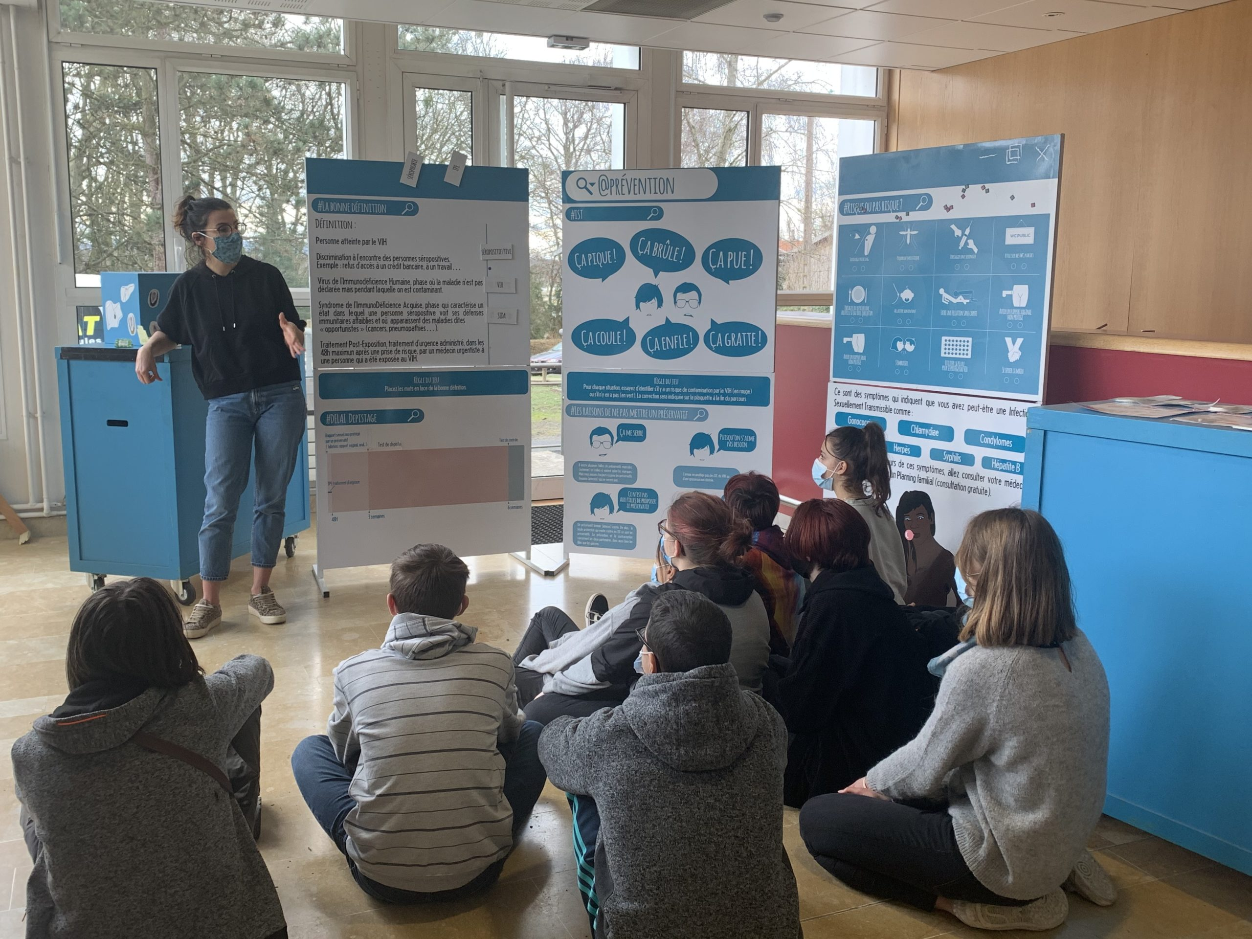 Les classes de 2nde pro Aquaculture et Élevage canin participent à un temps fort d'éducation à la santé et au développement durable